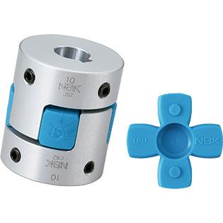 NBK MJC-65-BL-24-35 Jaw Flexible Coupling Aluminum A2017 24 mm and 35 mm Bore Diameters Set Screw Type