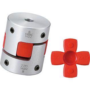 11//16 and 24 mm NBK MJC-55K-GR-11//16-24 Jaw Flexible Coupling Bore Diameters Aluminum A2017 Set Screw and Key Type